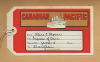 Luggage label for Canadian Pacific steamship