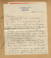 Letter from Miss Madeline G. Howe