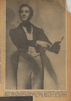 Newspaper clipping photograph of Basil Rathbone