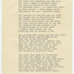 A two page typewritten poem by Mary Barbara Shields, written about a classmate from Nashville, Tennessee, referring to President Beatley and other people at Simmons College.