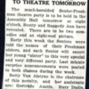 Newspaper clipping describing Simmons College Senior-Freshman Theater party