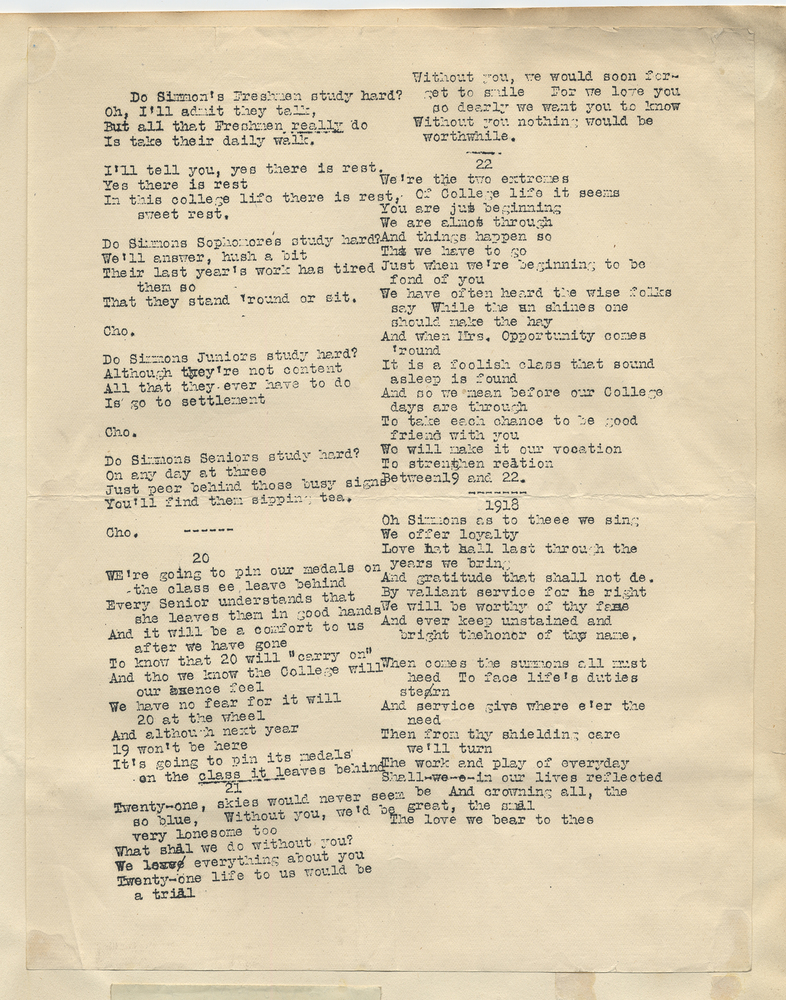 Lyric lyrics to a song : Lyrics of a Song About Simmons College Students · Blanche ...