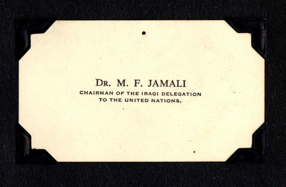 Edith Hornik Beer Digital Scrapbook   Business card of Dr. M. F. ...