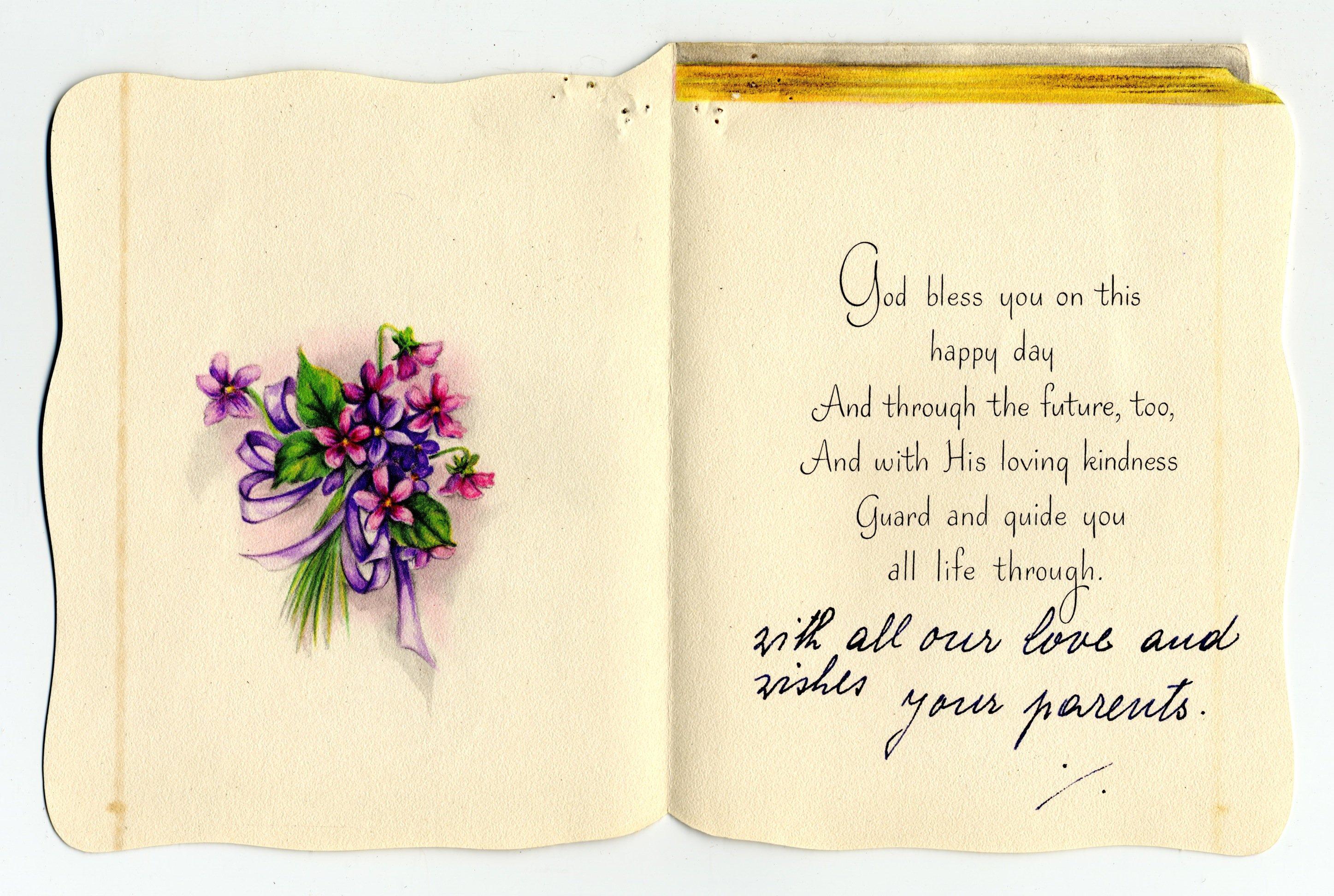 Edith Hornik Beer Digital Scrapbook Birthday Card To Edith Beer