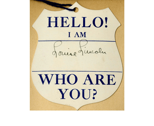 """Hello my name is"" Louise Lincoln"