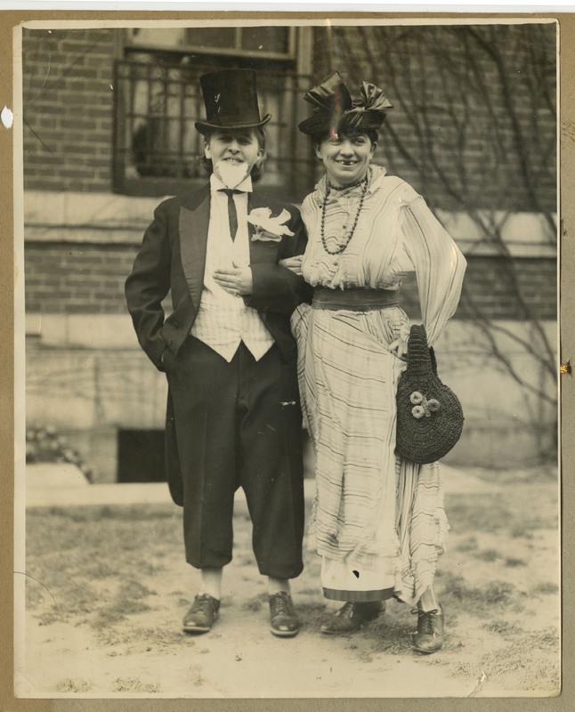 "Photograph of ""Vee Mar"" and ""Cush"" at Freshman-Junior Wedding"