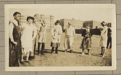 Photograph of professors in costume