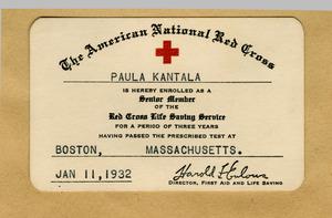 Paula Kantala McAndrews Digital Library | Membership card