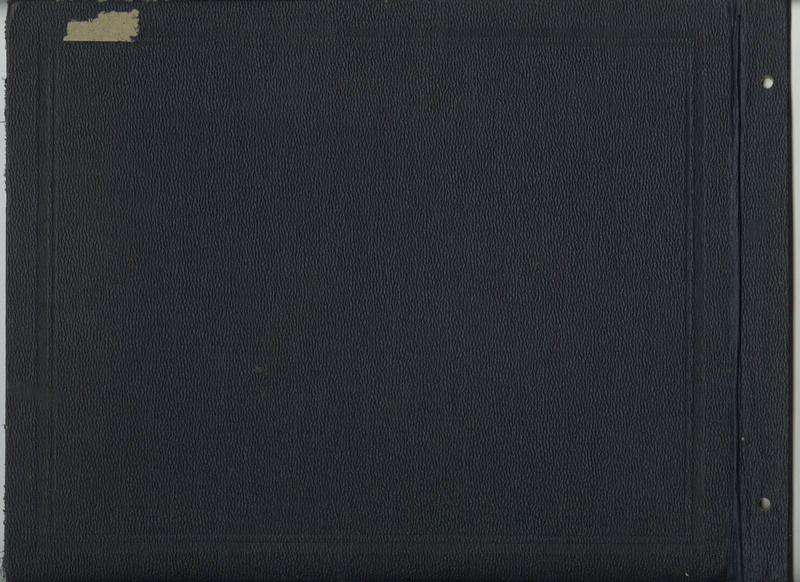 Back cover of scrapbook.