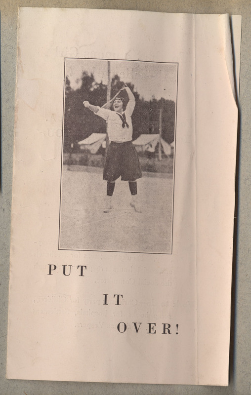 An advertisement to join the Simmons chapter of the Y.W.C.A. 3 pages.