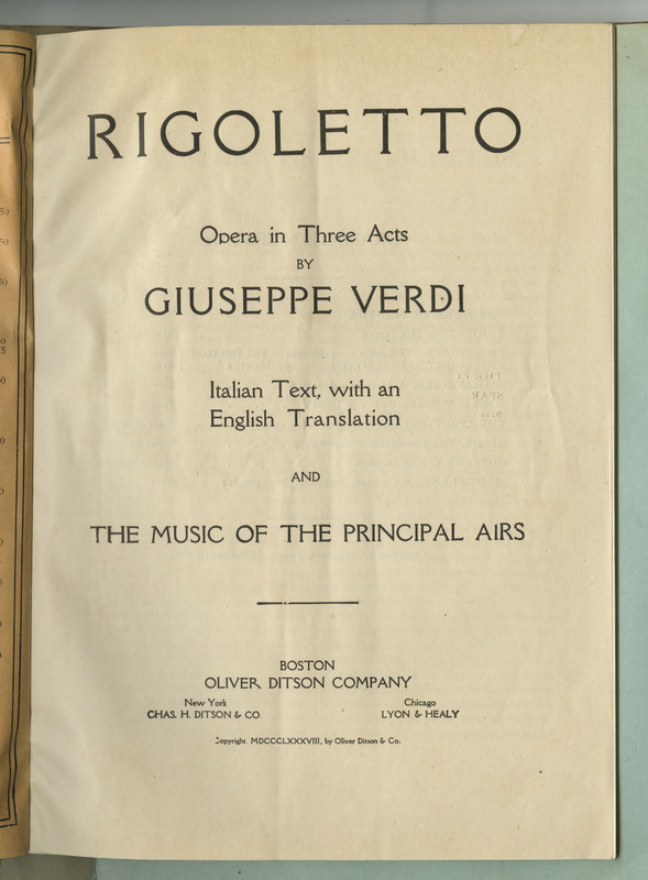 This pamphlet contains 48 pages of script, including stage directions and scene settings, and musical scores.