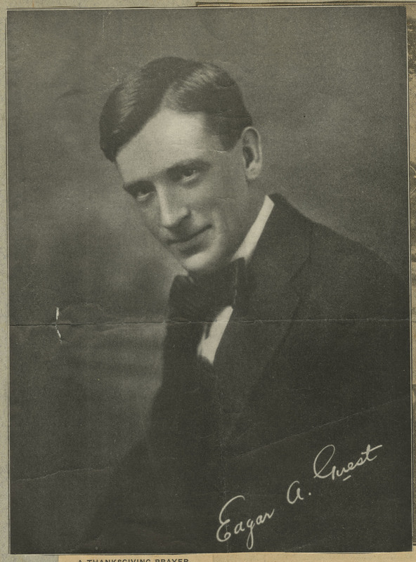 Photo portrait of Edgar A. Guest with signature.